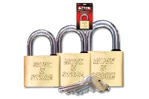 brass padlock & keys box shop image